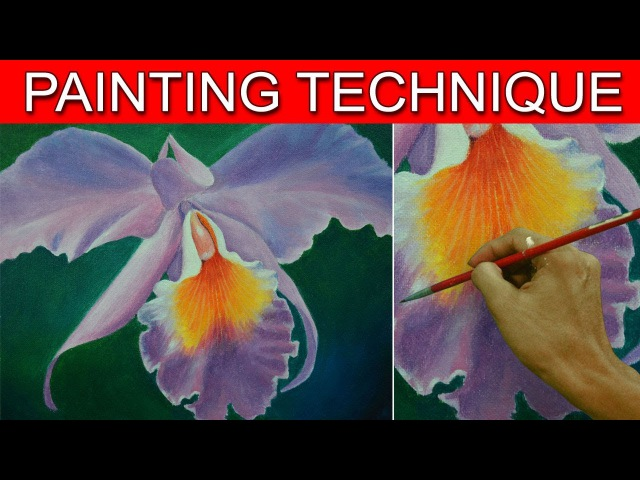 How to Paint an Orchid Flower in Easy Step by Step Acrylic Full Painting Tutorial by JM Lisondra