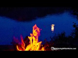 Campfire by a Lake Sleep or Study to Water Sounds &amp Crackling Fire White Noise 10 Hours