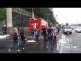Пожар в бизнес центре на Крымском Валу