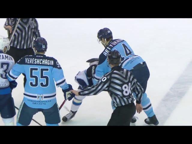 KHL Fight Artyukhin VS N.Kvartalnov