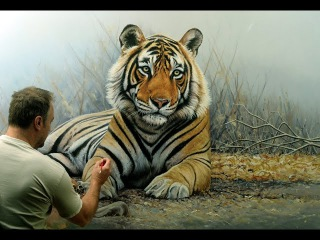 'Prince of India' life-size tiger oil painting