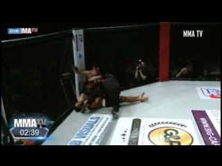 Cocky British MMA fighter DANCES in middle of fight but gets brutally KO'd