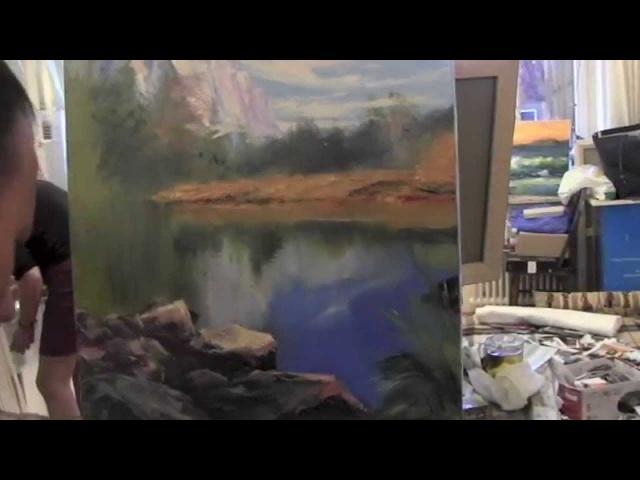 Научиться рисовать пейзаж, курсы рисования, художник Сахаров