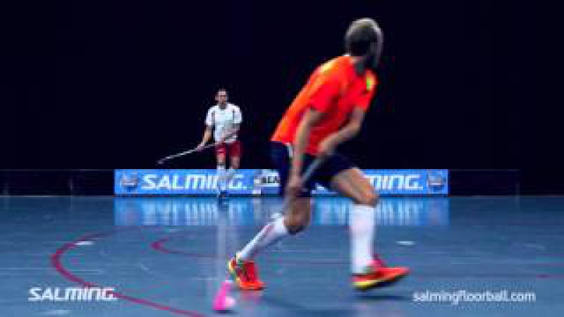 Salming Floorball Academy: Couvert pass with direct shot