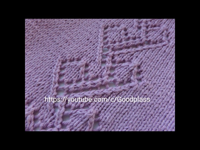 Ажурный узор для кофты. Вязание спицами.Knitting(Hobby).
