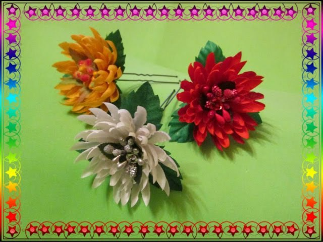 Астра цветок из ткани своими руками 55