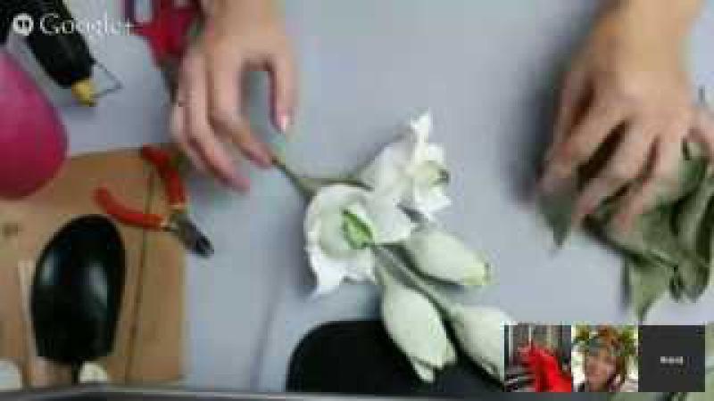 Анна Тюмерова. Веточка лилии из конфет.