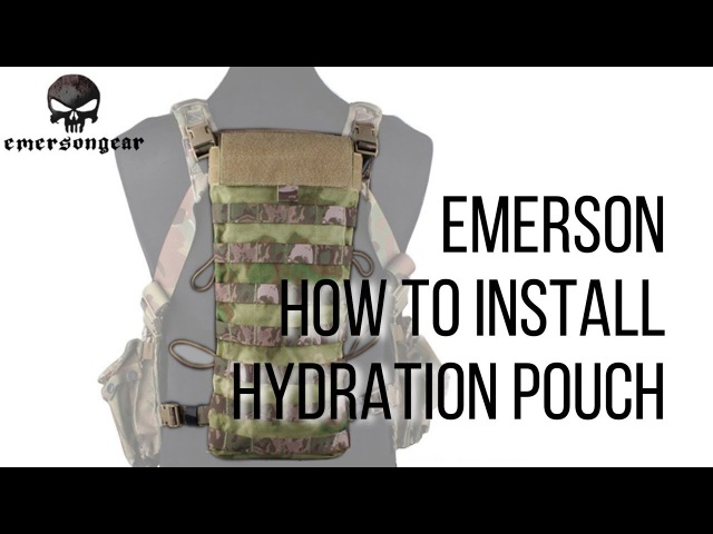 How to install emerson hydration pouch to easy chest rig / Как установить гидратор на нагрудник