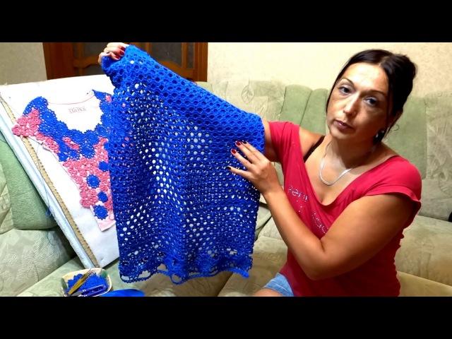 Вяжу новое платье из хлопка нижняя часть юбка схемы для вязания основного полотна и каймы