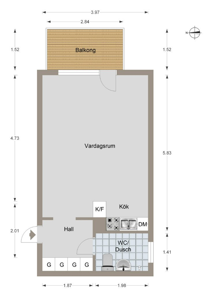 Квартира-студия 28,8 м.