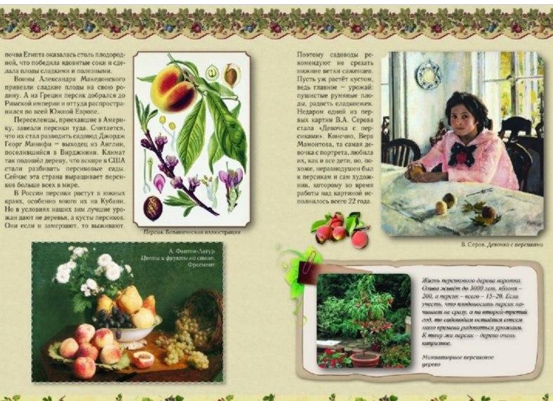 детская книга о фруктах и деревьях