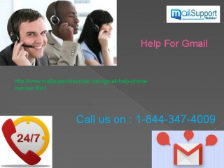 Get instant and relevant Gmail Help Number by dialing1-844-347-4009 numbers