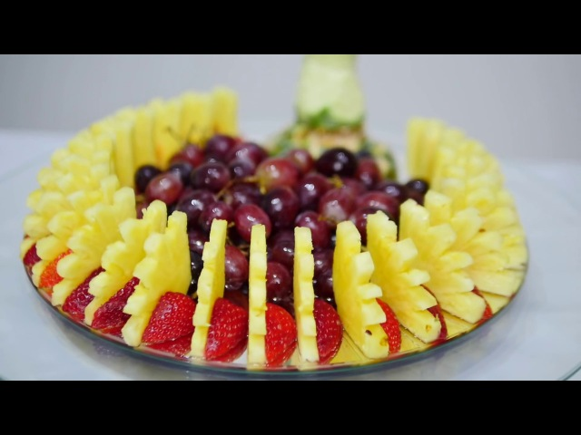 How to CUT FRUIT correctly for FRUIT CENTER PIECE - By J Pereira Art Carving Fruits and Vegetables