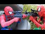 Joker kidnap Snow White Spiderman Guns Venom Police arrest Baby Hulk Frozen Elsa Superhero funny