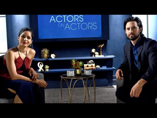 Actors on Actors Milo Ventimiglia and Freida Pinto (Full Video)