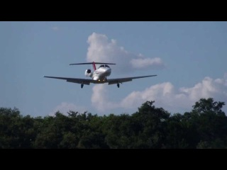 Посадка Cessna Citation CJ2 в Аэропарке Lakeway