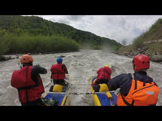 Грузия. Сплав по реке Риони. Начало... HD