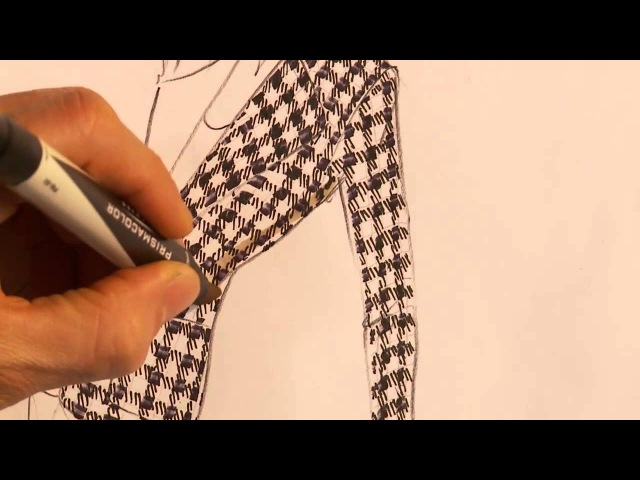 How to hand render a houndstooth jacket