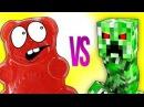 МАЙНКРАФТ VS ЖЕЛЕЙНЫЙ МЕДВЕДЬ ВАЛЕРА   СУПЕР РЭП БИТВА   Minecraft Creeper VS Gummy Bear Познава ...