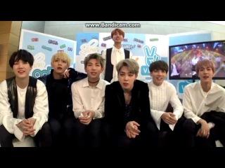 161105 BTS (방탄소년단) reaction on MBC Music Core
