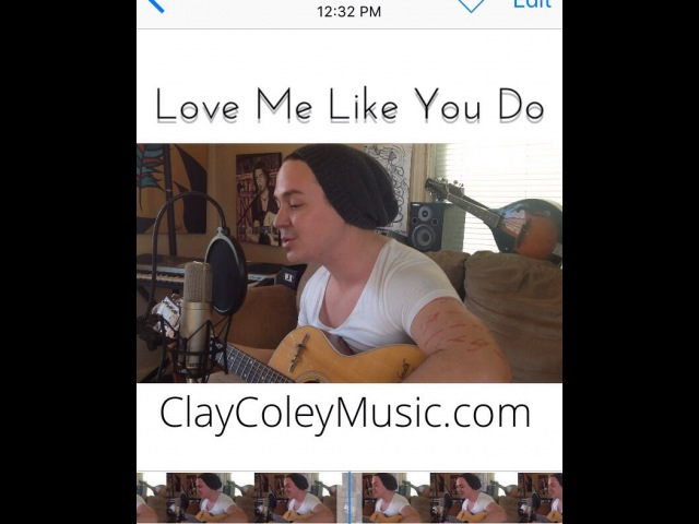 ELLIE GOULDING - Love Me Like You Do (cover by Clay Coley) (400 For 40 video 14)