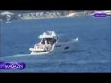 Отдых Чагатая Улусоя и Кыванча Татлытуга на яхте