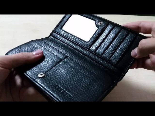 COSCET B405-25A - Мужской клатч-купюрник на молнии, искусственная кожа