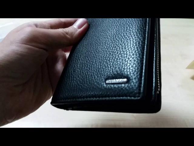 COSCET B404-25A - Мужской клатч-купюрник на молнии, искусственная кожа