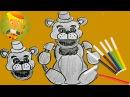 Как нарисовать мишку Фредди Страшний мишка 5 ночей с Фредди