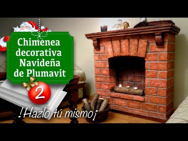 Decoración de Navidad / Chimenea (Falsa) de Plumavit - Manualidades - Christmas decoration