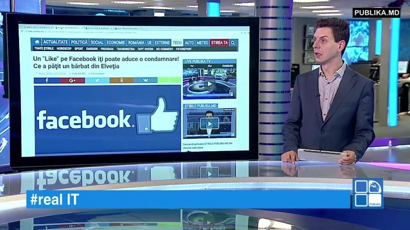 RealIT. Un Like pe Facebook îţi poate aduce o condamnare! Ce a păţit un bărbat din Elveţia www.publika.md/2970365