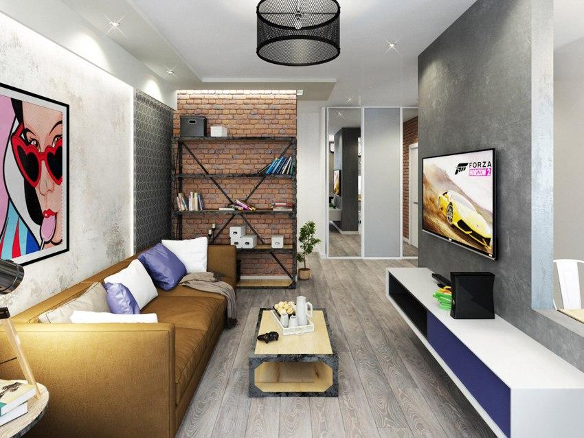 Проект квартиры 41,5 м.