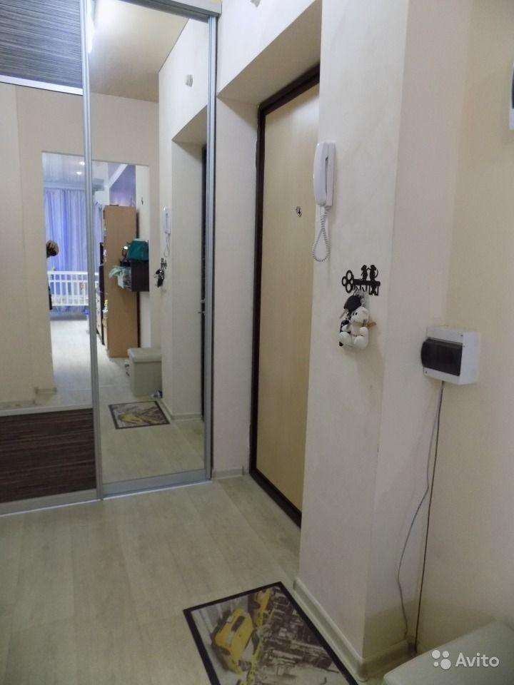 Квартира-студия типовой прямоугольной планировки 29 м в Волгограде.