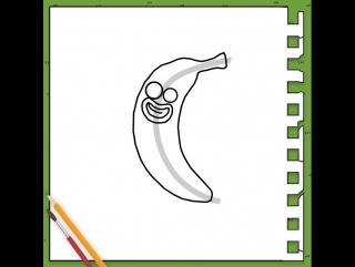 Как нарисовать Банан Джо