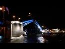 Развод Дворцового моста с Невы