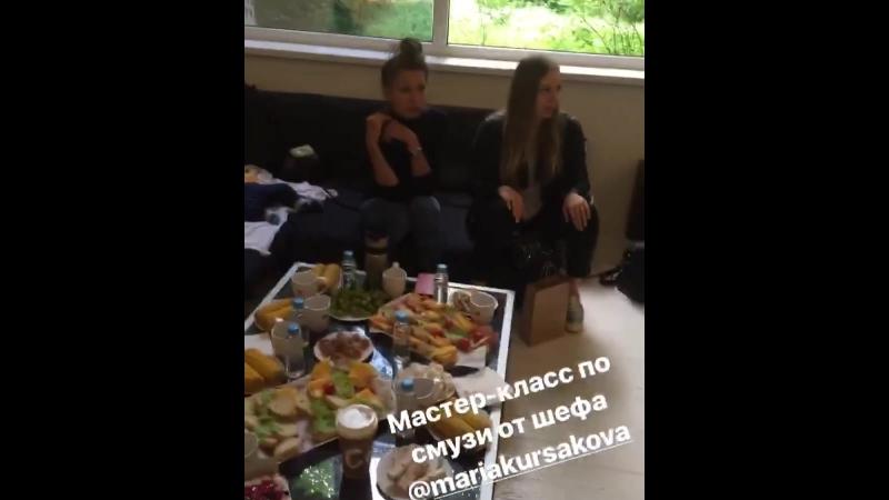Мастер-класс по смузи на вечеринке мам с малышами heymumsparty