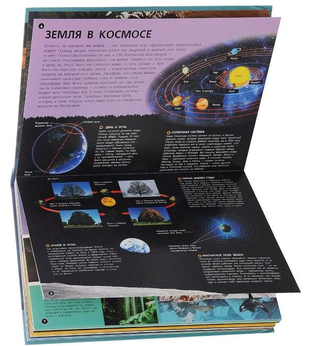 детская книга о планете земля 3-д панорама