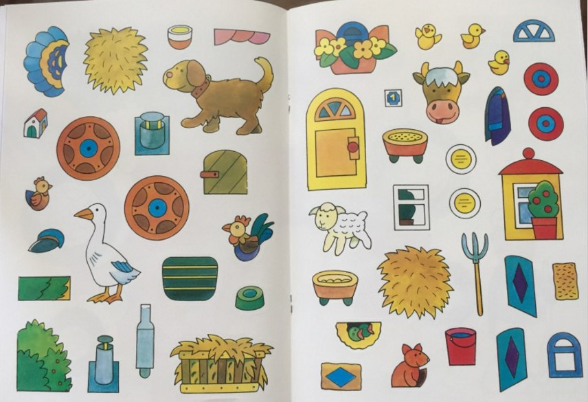 детская книга с наклейками про животных и ферму