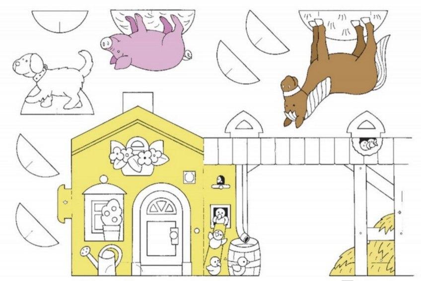 купить красивые наклейки книжка раскраска про ферму для ребенка