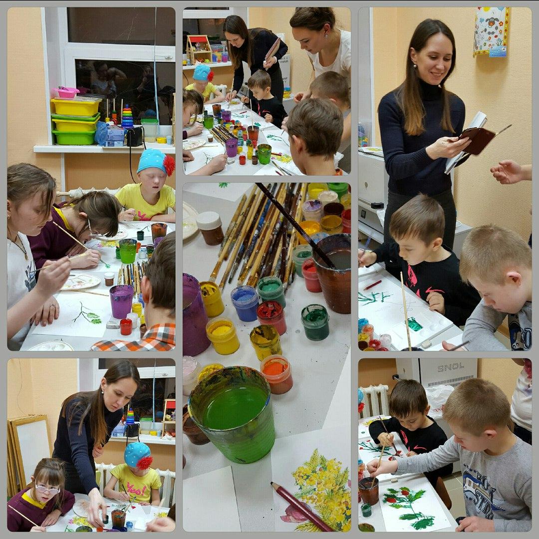 В творческой мастерской Солнечного дома состоялся мастер-класс по живописи