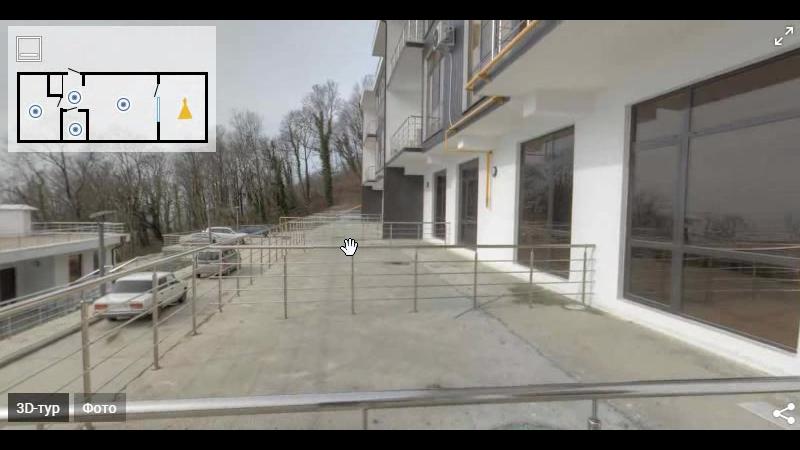 Превью 3D-тура | 2-комнатная квартира 76 мв ЖК Лазурный берег - vestum.ru