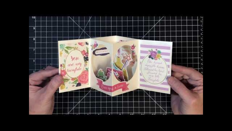 Open Center Box Card Inspired by Nyoka's Tea Light Card