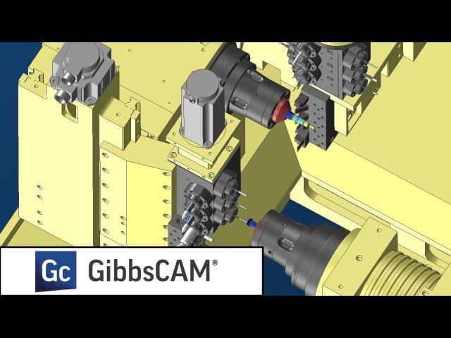 GibbsCAM. Обработка на станке швейцарского типа Ganesh Cyclone 52 BY2