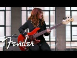 Annie Clements Demos The '60s Jazz Bass American Original Series Fender