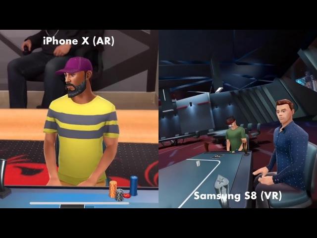 Poker VR AR/VR Cross Platform Test (Mega Particler) - Gear, iPhone