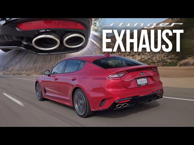 2018 Kia Stinger GT Exhaust SEMA Stinger GT Borla Exhaust - Pure Sound