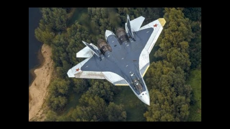 Russia's Sukhoi fifth-generation fighter aircraft in the sky