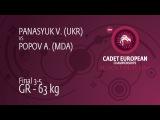 BRONZE GR - 63 kg A. POPOV (MDA) df. V. PANASYUK (UKR), 6-1