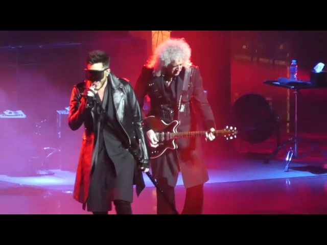 Queen Adam Lambert- We will Rock you INTRO Hammer to Fall - LIVE Birmingjam 30/11/17