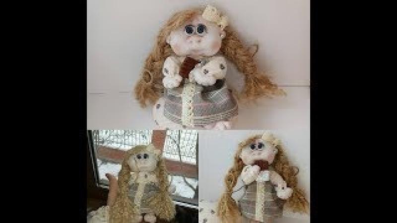 Валентинка. Мастер класс. Каркасная кукла из капрона. С Днем Влюбленных всех, всех, всех!